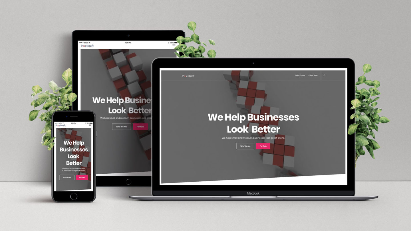 Responsive Website Redesign, Redesigning the company website for 2019