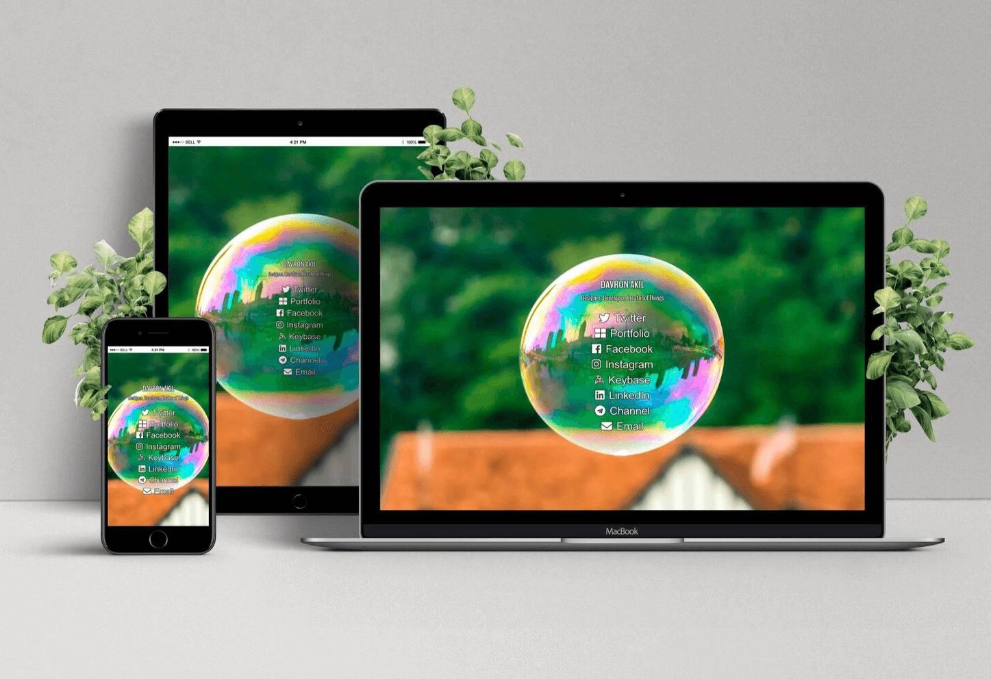 Light Responsive Homepage Design