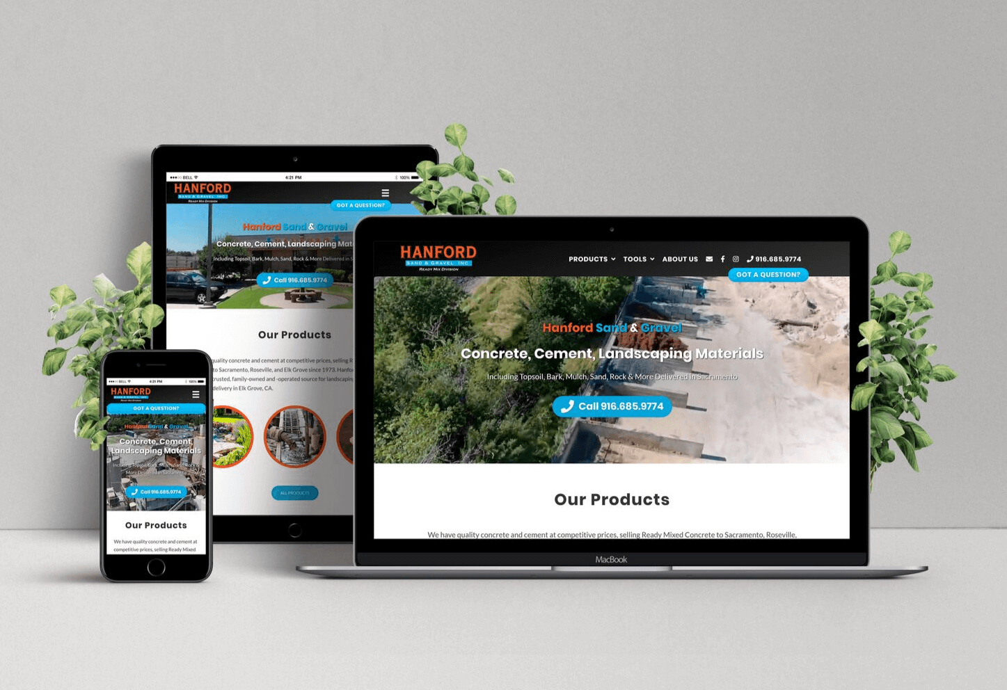 Website For Concrete Delivery Company